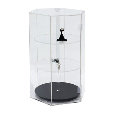 1107 Acrylic Revolving Showcase Display Case