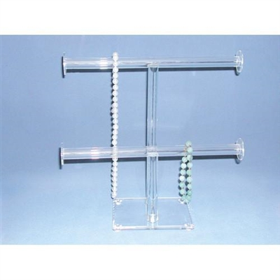 1330 Acrylic Double T-Bar Necklace and Bracelet Display