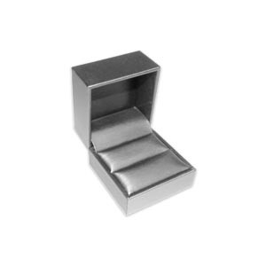 1561R/SV Silver Gray Leatherette Ring Box