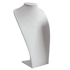 182-8L (W) WHITE NECKLACE STAND