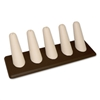 2405-CB CHOCOLATE/BEIGE 5 FINGER DISPLAY