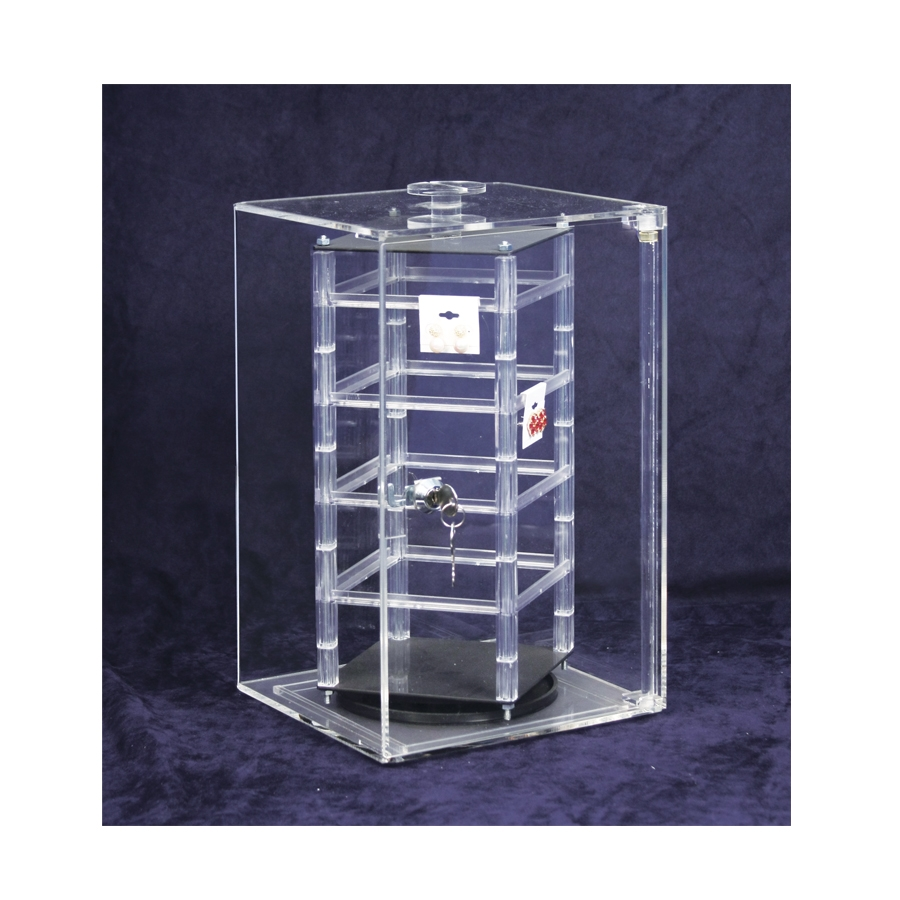 """Revolving Rotating Acrylic Earring Display Holds 32 2/"""" Cards"""