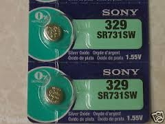 SR731SW / 329 Mercury Free Sony Silver Oxide Watch Battery