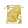 BX-1264 Metallic Gold Drawstring Pouches