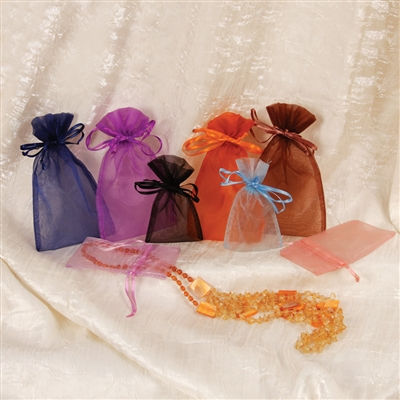 BX-1291-(MX) Assorted Organza Drawstring Pouches