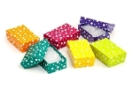 BX2882-PD Polka Dot Cotton-Filled Boxes Assorted Color