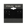 "BX573S Sterling Silver"" Black Hanging Earring Cards"