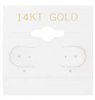 "BX579G 14KT Gold"" White Hanging Earring Cards"