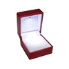 CA01-RD Red Soft Touch Lighted Ring Box
