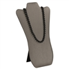 CD-6703R-SG Steel Gray Faux Leather Necklace Easel Display