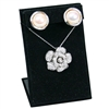 ED-0461-BK Black Velvet Earring and Necklace Display Stand
