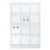 F8-2 White Leatherette Vertical Earring Display Tray