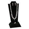 F9-18 (BK)Tall Combination Necklace, Earring, and Ring Display Stand