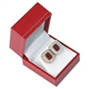 LE3(RW) Red Leatherette Earring Box