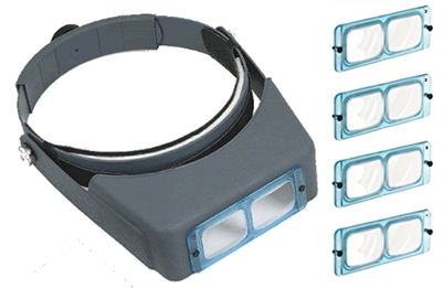 LO300 BINOCULAR MAGNIFIER VISOR includes 4 glass lenses