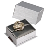 PLR3-P22 Elegant Steel Gray Bow Tie Ring Box