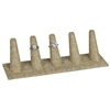 RD-2455N-N3 5 Long Finger Ring Display Burlap