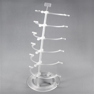 S31-6251-10 Plastic Counter Top Eyeglass Display Stand For 6 Eyewear Frames.