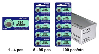 SR936SW / 394 Sony Mercury Free Silver Oxide Watch Battery