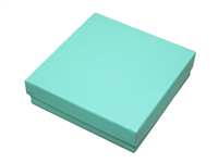 TB-4 Cotton-Filled Boxes Teal Blue Color