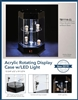 TB1114-CL Hexagonal revolving Lighted Acrylic Showcase