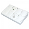 TY2104L (W) Slanted pendant/earring (8) tray - All white.