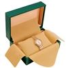 WB101L-GN Faux Leather Single Watch Box - Green