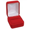 YR3-RED Feature rich velvet finished metal Ring Box